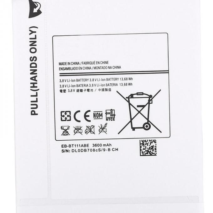 3600mA White Samsung Tablet Battery Replacement EB-BT111ABE SM-T110 SM-T111 T115